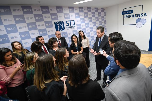STJ inaugura novo espaço para trabalho dos jornalistas