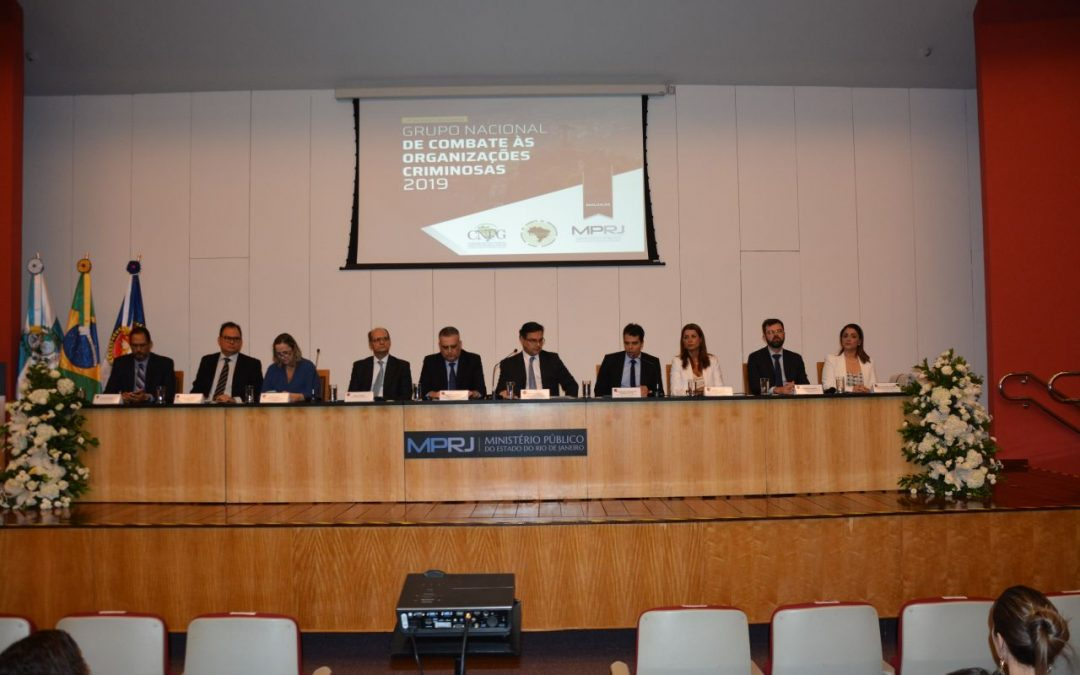 Abel Gomes abre com palestra reunião do Grupo Nacional de Combate às Organizações Criminosas, no Rio