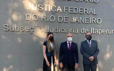 Corregedor regional do TRF2 e diretor do Foro da SJRJ visitam Subseções de Itaperuna e Campos